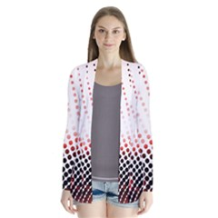 Radial Dotted Lights Drape Collar Cardigan