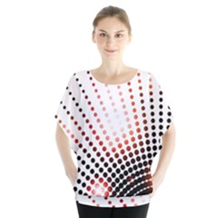 Radial Dotted Lights Blouse