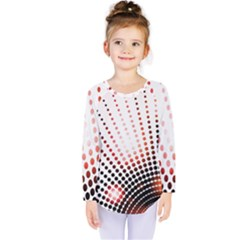 Radial Dotted Lights Kids  Long Sleeve Tee