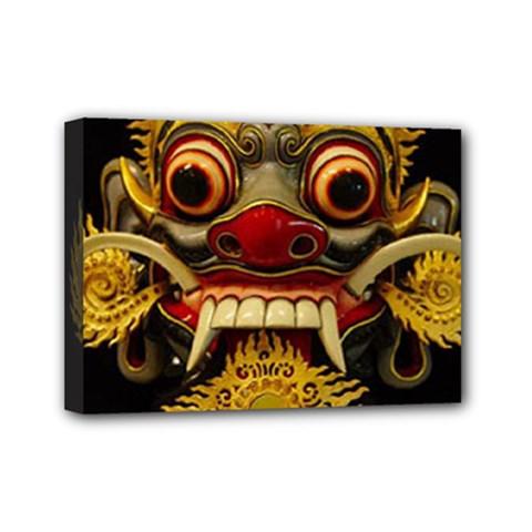 Bali Mask Mini Canvas 7  X 5