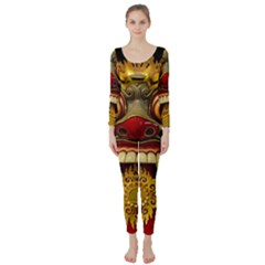 Bali Mask Long Sleeve Catsuit