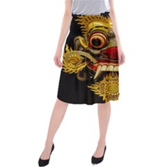 Bali Mask Midi Beach Skirt