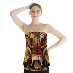 Bali Mask Strapless Top