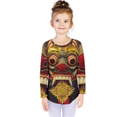 Bali Mask Kids  Long Sleeve Tee