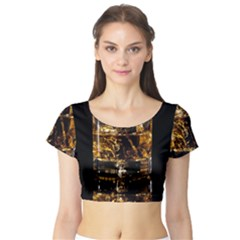Drink Good Whiskey Short Sleeve Crop Top (tight Fit)