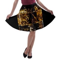 Drink Good Whiskey A Line Skater Skirt