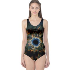 Crazy  Giant Galaxy Nebula One Piece Swimsuit