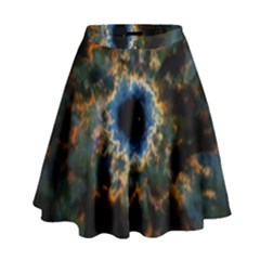 Crazy  Giant Galaxy Nebula High Waist Skirt