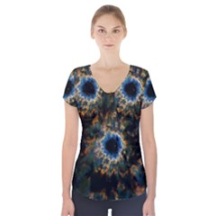 Crazy  Giant Galaxy Nebula Short Sleeve Front Detail Top