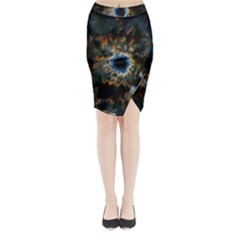 Crazy  Giant Galaxy Nebula Midi Wrap Pencil Skirt