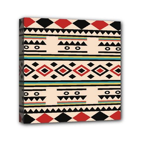 Tribal Pattern Mini Canvas 6  X 6