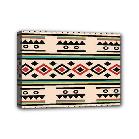 Tribal Pattern Mini Canvas 7  X 5