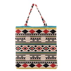 Tribal Pattern Grocery Tote Bag