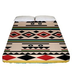 Tribal Pattern Fitted Sheet (queen Size)