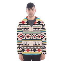 Tribal Pattern Hooded Wind Breaker (men)