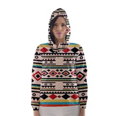 Tribal Pattern Hooded Wind Breaker (women)