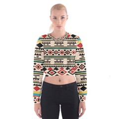 Tribal Pattern Cropped Sweatshirt