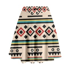 Tribal Pattern High Waist Skirt