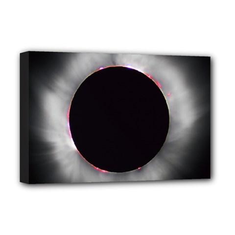 Solar Eclipse Deluxe Canvas 18  X 12
