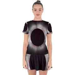 Solar Eclipse Drop Hem Mini Chiffon Dress