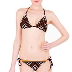 Toraja Pattern Pa re po  Sanguba ( Dancing Alone ) Bikini Set