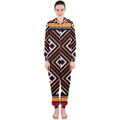Toraja Pattern Pa re po  Sanguba ( Dancing Alone ) Hooded Jumpsuit (ladies)