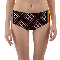 Toraja Pattern Pa re po  Sanguba ( Dancing Alone ) Reversible Mid Waist Bikini Bottoms