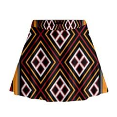 Toraja Pattern Pa re po  Sanguba ( Dancing Alone ) Mini Flare Skirt