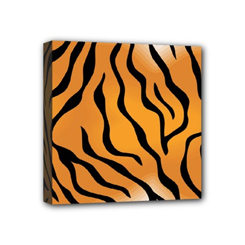 Tiger Skin Pattern Mini Canvas 4  X 4