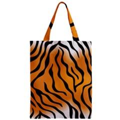 Tiger Skin Pattern Zipper Classic Tote Bag