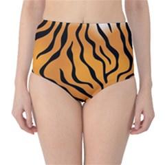 Tiger Skin Pattern High Waist Bikini Bottoms