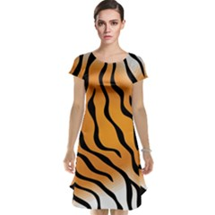 Tiger Skin Pattern Cap Sleeve Nightdress