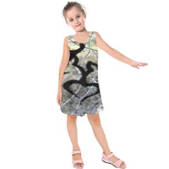 Black Love Browning Deer Camo Kids  Sleeveless Dress