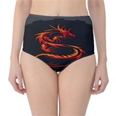 Dragon High Waist Bikini Bottoms