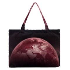 Planet Fantasy Art Medium Zipper Tote Bag
