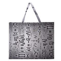 Science Formulas Zipper Large Tote Bag