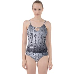 Science Formulas Cut Out Top Tankini Set