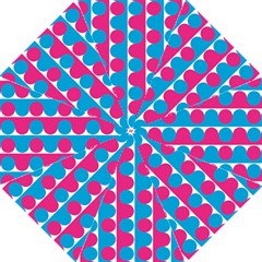 Pink And Bluedots Pattern Hook Handle Umbrellas (large)