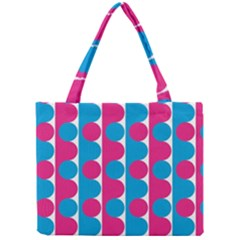 Pink And Bluedots Pattern Mini Tote Bag