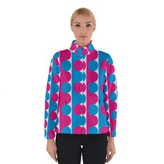 Pink And Bluedots Pattern Winterwear