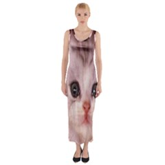 Cat  Animal  Kitten  Pet Fitted Maxi Dress