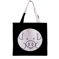 Pig Logo Grocery Tote Bag