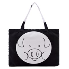 Pig Logo Medium Zipper Tote Bag