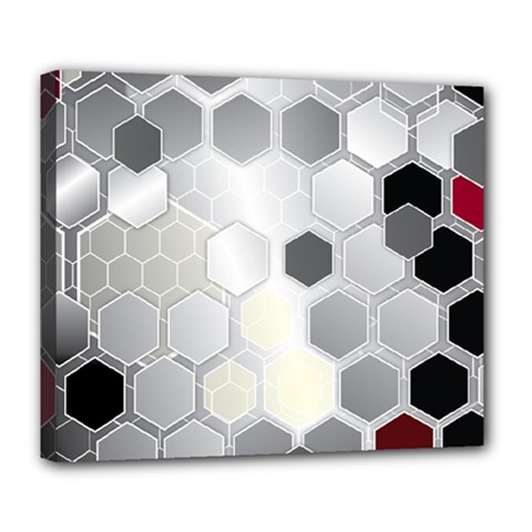Honeycomb Pattern Deluxe Canvas 24  X 20