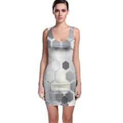 Honeycomb Pattern Bodycon Dress