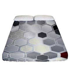 Honeycomb Pattern Fitted Sheet (california King Size)