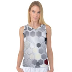 Honeycomb Pattern Women s Basketball Tank Top