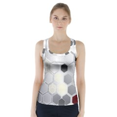 Honeycomb Pattern Racer Back Sports Top