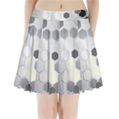 Honeycomb Pattern Pleated Mini Skirt