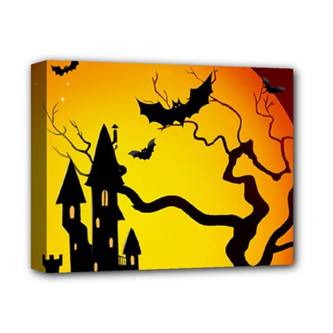 Halloween Night Terrors Deluxe Canvas 14  X 11